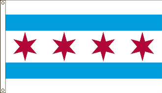 City of Chicago Flag 3x5 4x6 5x8 6x10