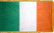 3x5 FT Irish Ireland Indoor flag with Pole Hem and Gold Fringe
