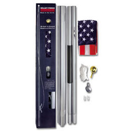 20 FT Residential Flag Pole Flagpole Kit 3x5 US American Flag
